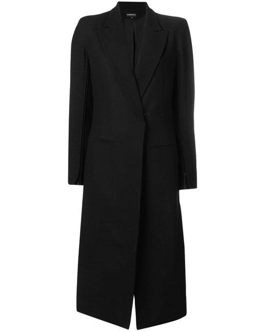 Ann Demeulemeester Black Single Breasted Coat