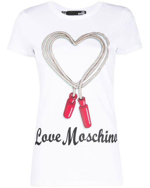 Love Moschino ハートロゴ Tシャツ White