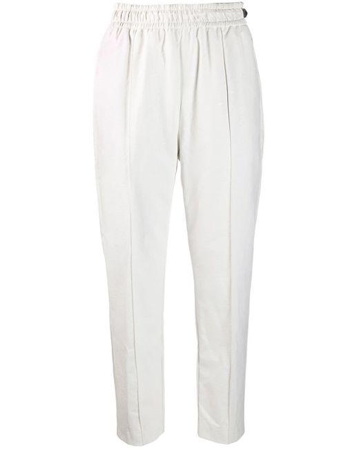 Pantalon fuselé crop Nude en coloris White