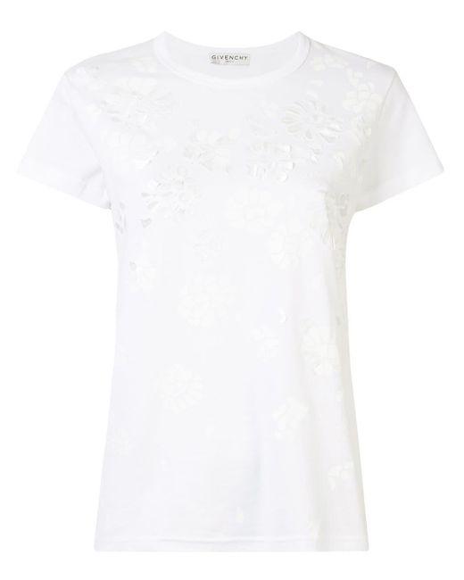 Givenchy フローラル Tシャツ White