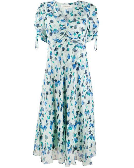 Diane von Furstenberg Eleonora フローラル ドレス Blue