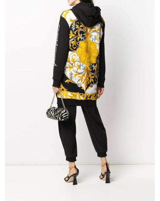 Versace Gv バロッコ フーデッドジャケット Black