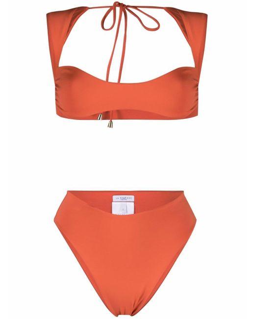 LaRevêche Orange Maria Open Back Bikini
