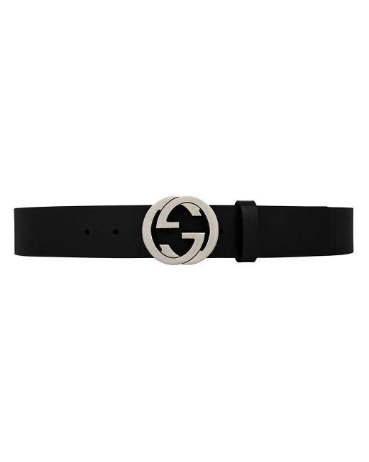 メンズ Gucci 2cm Gg Marmont レザーベルト 20mm Black