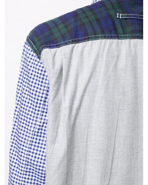 Рубашка В Клетку Гингем Junya Watanabe для него, цвет: Blue