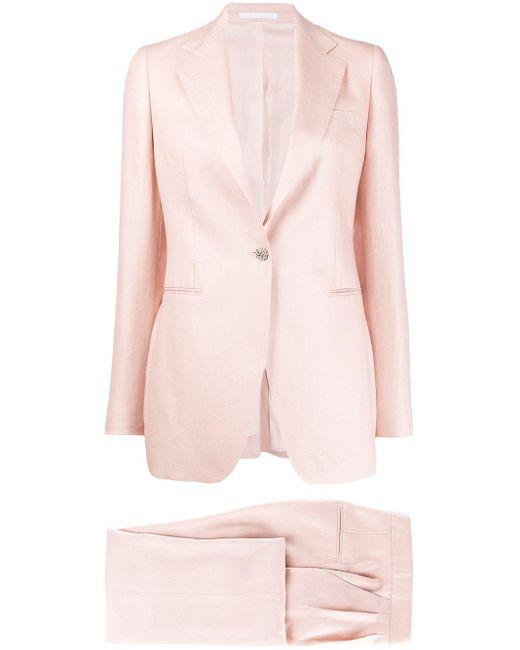 Костюм-двойка Abby Tagliatore, цвет: Pink