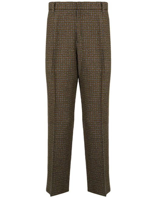Wooyoungmi Brown Tailored Tweed Trousers for men