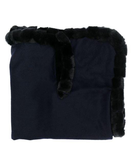 N.Peal Cashmere ファートリム ショール Blue
