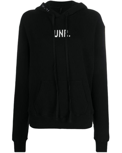 Unravel Project ロゴ ニットパーカー Black
