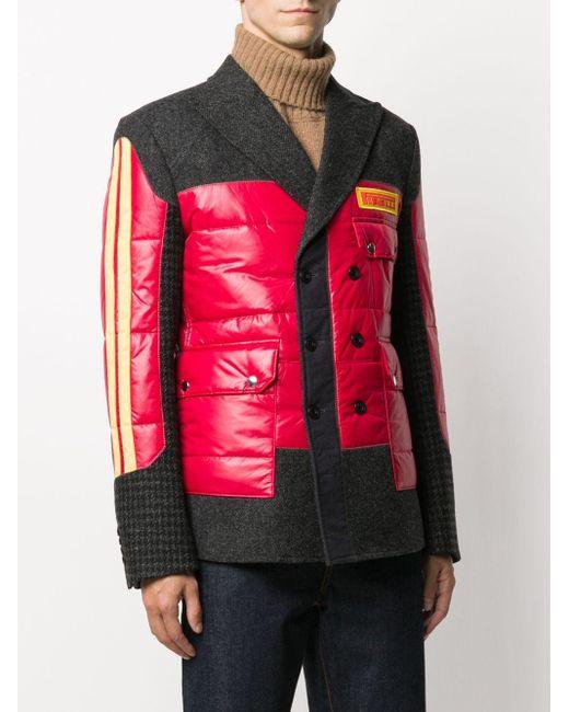 メンズ Junya Watanabe パネル シングルジャケット Gray