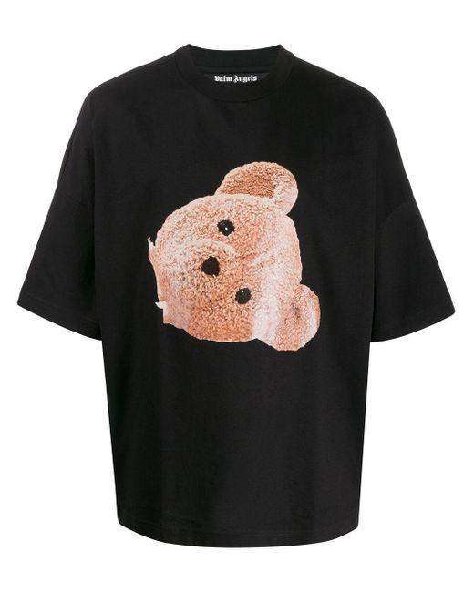 メンズ Palm Angels プリント Tシャツ Black