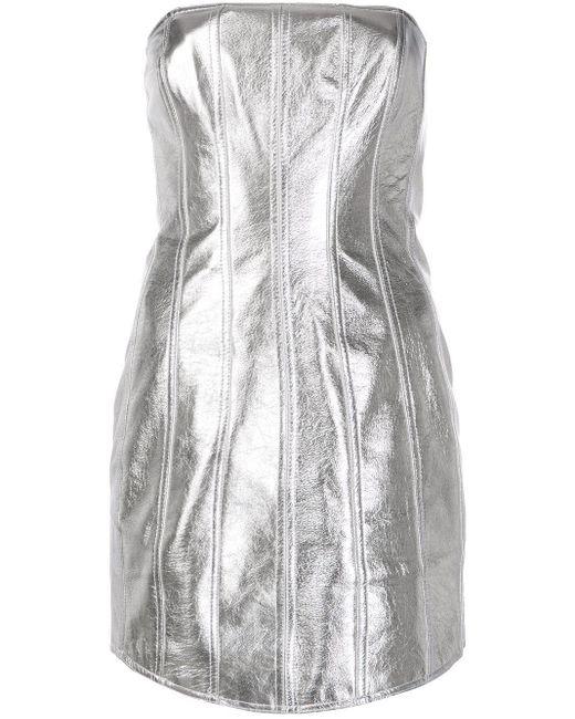 David Koma ストラップレス ドレス Metallic