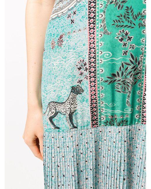 Платье Veronica С Цветочным Принтом Saloni, цвет: Blue