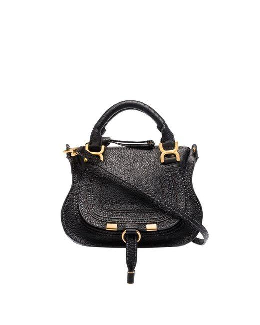 Chloé Black Marcie Small Leather Satchel