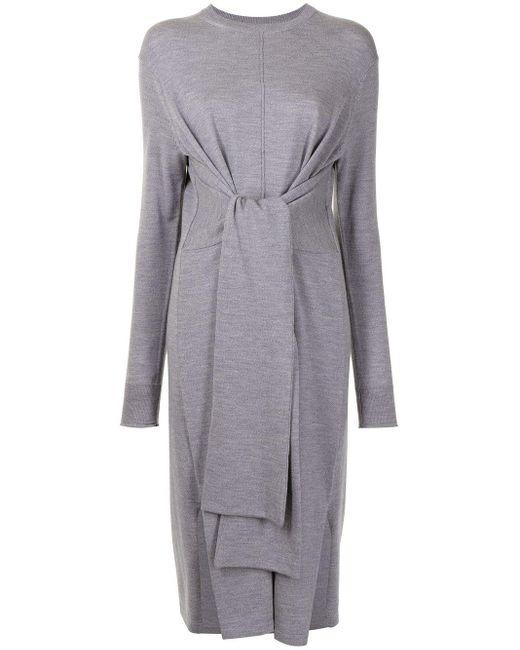PROENZA SCHOULER WHITE LABEL タイディテール ドレス Gray