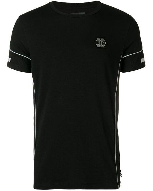 Philipp Plein T-Shirt mit Logo-Patch in Black für Herren