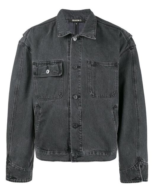 Yeezy - Blue Worker Jean Jacket for Men - Lyst
