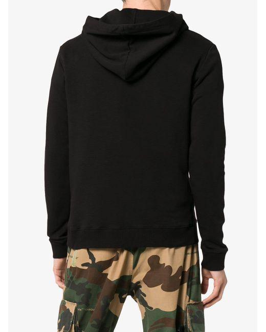 Худи С Принтом Saint Laurent для него, цвет: Black