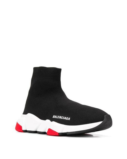 Balenciaga ブラック And レッド スピード スニーカー Black