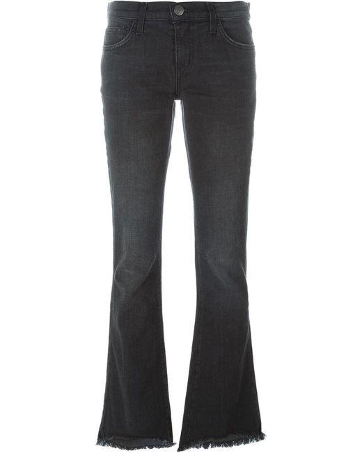 Current/Elliott | Black Flared Jeans | Lyst