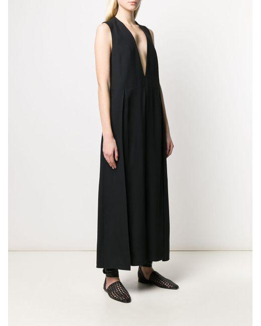 Jil Sander ノースリーブ ドレス Black