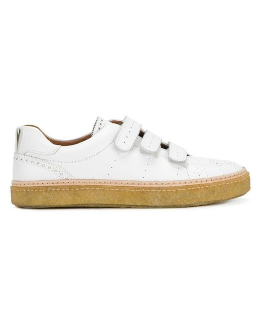 Weber Hodel Feder | White Brogue Detail Sneakers for Men | Lyst