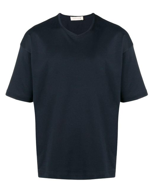 メンズ Mackintosh コットン Vネック Tシャツ Gcs-026 Blue