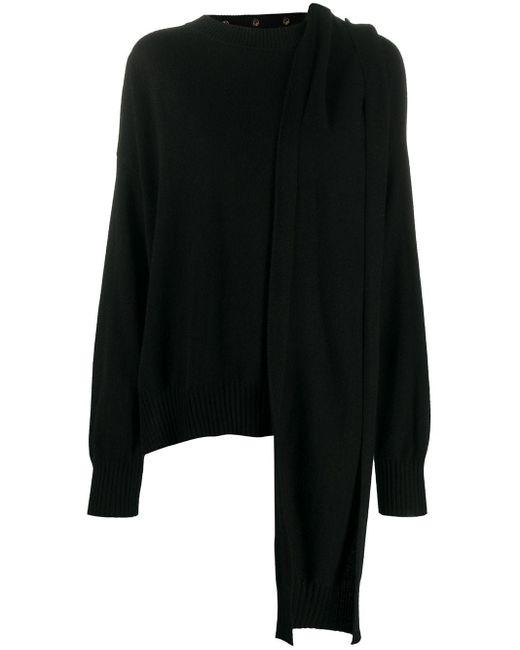 Loulou Studio スカーフ カシミア セーター Black