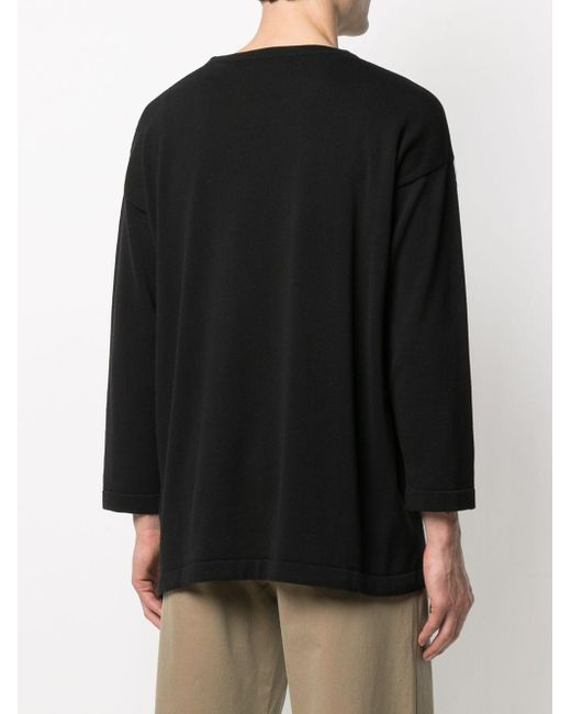 Societe Anonyme Pullover mit Kordelzug in Black für Herren