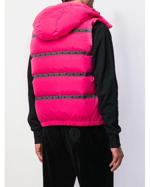 メンズ Versace パデッドベスト Pink