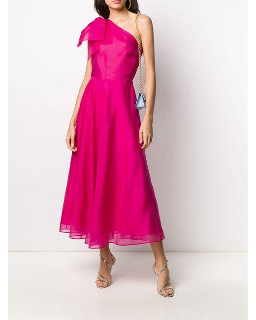 MSGM ワンショルダー ドレス Pink