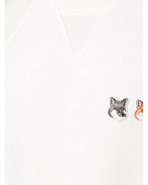 メンズ Maison Kitsuné クルーネック プルオーバー White