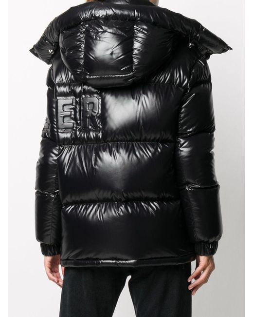 Moncler ロゴ パデッドコート Black