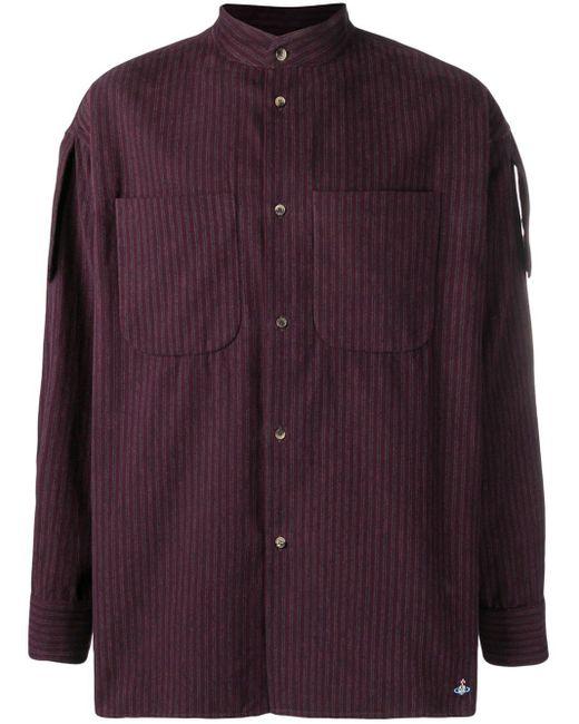 メンズ Vivienne Westwood ストライプシャツ Purple