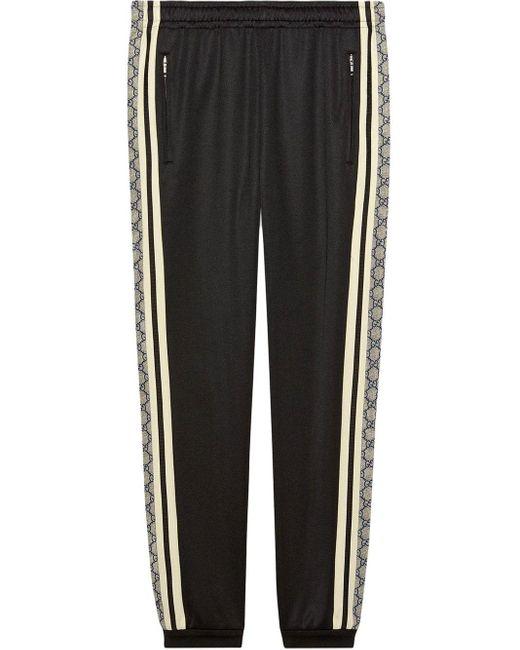 メンズ Gucci 【公式】 (グッチ)オーバーサイズ テクニカルジャージー ジョギングパンツブラック テクニカルジャージーブラック Black