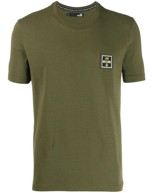メンズ Love Moschino ロゴ Tシャツ Green