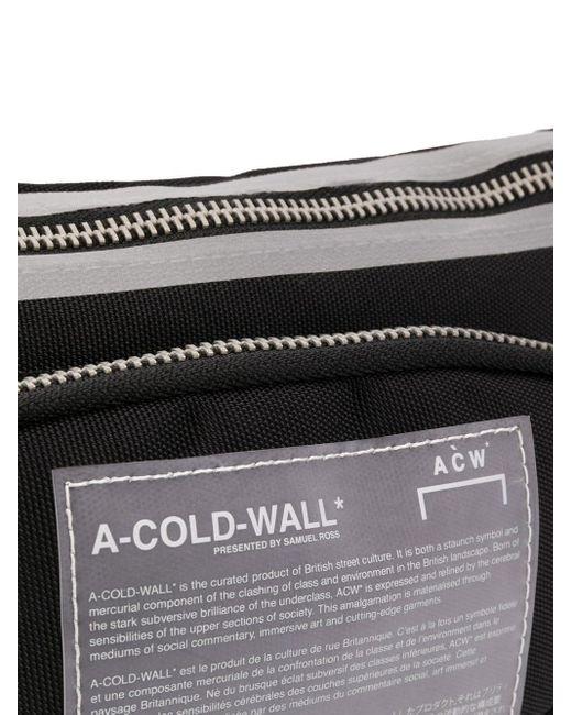 メンズ A_COLD_WALL* ロゴパッチ ベルトバッグ Black