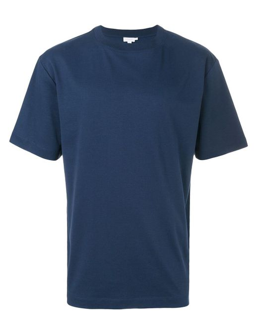 メンズ Sunspel クラシック Tシャツ Blue