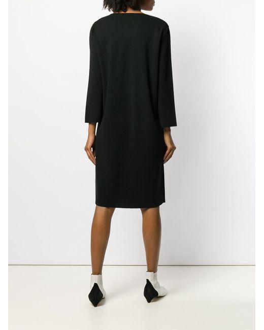 Blumarine フローラル ニットドレス Black