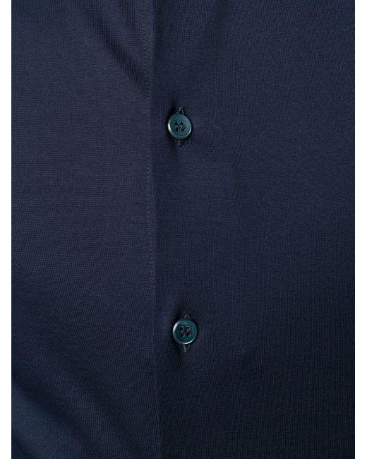 メンズ Giorgio Armani レギュラーフィット シャツ Blue