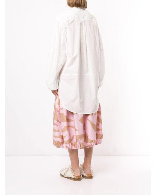 Chemise à coupe boxy Lee Mathews en coloris White