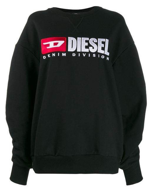 DIESEL ロゴ スウェットシャツ Black