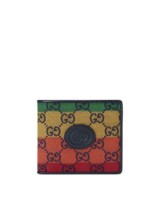 メンズ Gucci GG マルチカラー 二つ折り財布 Green
