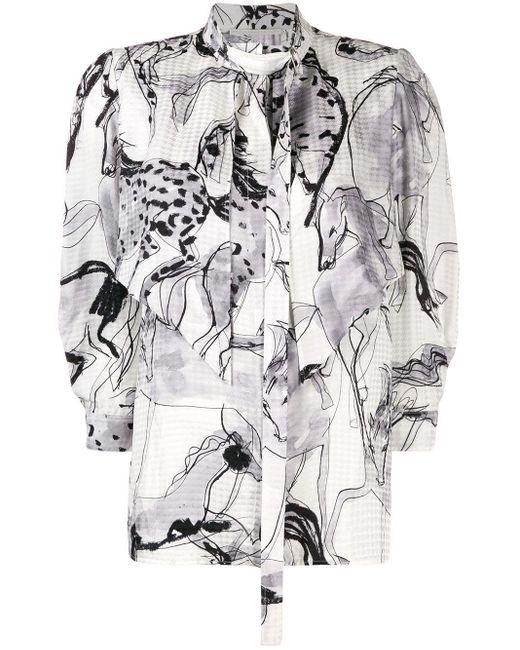Блузка С Принтом Stella McCartney, цвет: Black
