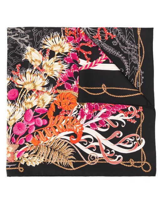 Ferragamo フローラル スカーフ Multicolor