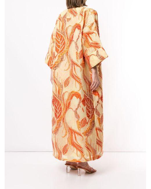Bambah Isabella フローラル カフタン&ドレス Orange