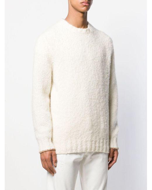 Pull en maille épaisse Brunello Cucinelli pour homme en coloris White