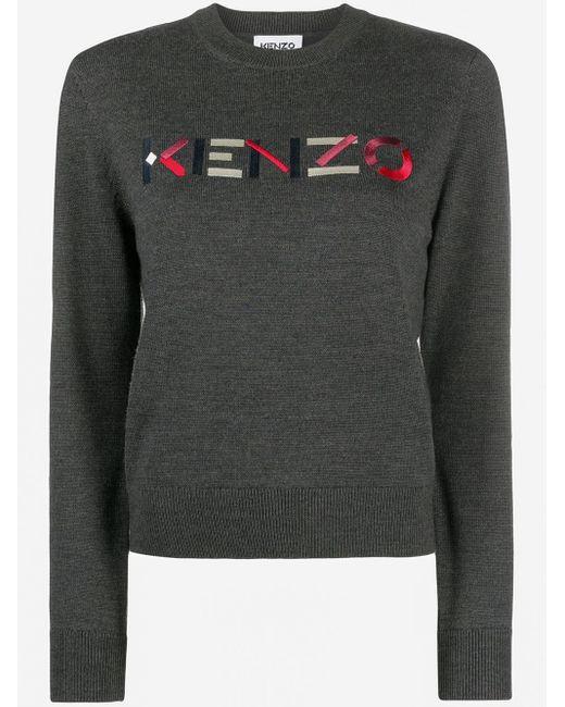 KENZO ロゴ プルオーバー Gray