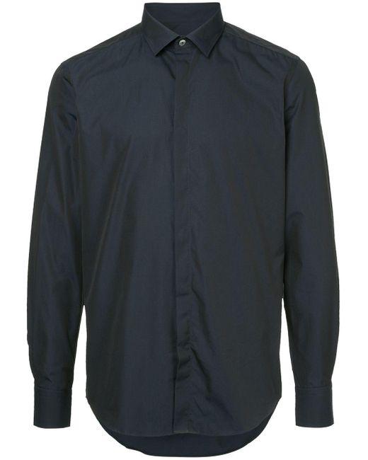 メンズ Lanvin Shimmer Smart Shirt Blue