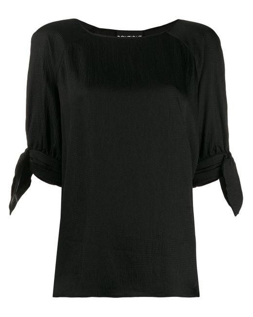 Boutique Moschino Blusa con lazo en los puños de mujer de color negro 8tEAd